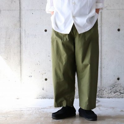 have a good day (ハブアグッドデイ) / SLIPPERS BAKER PANTS - OLIVE
