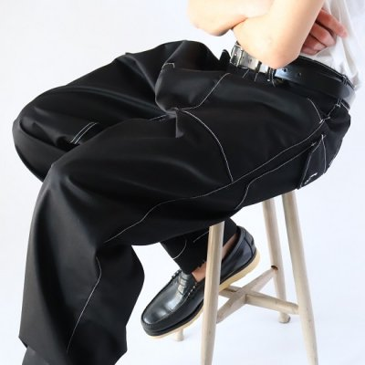 Willow Pants (ウィローパンツ) / T/C BLACK PANTS - BLACK