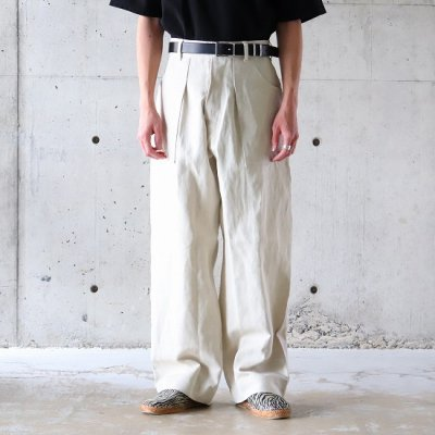 Willow Pants (ウィローパンツ) / LINEN/COTTON PANTS - WHITE
