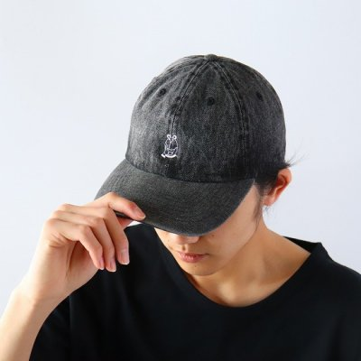 CZCZ DENIM CAP - BLACK