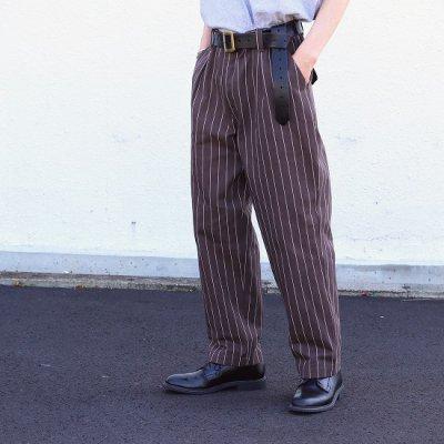 Willow Pants (ウィローパンツ) / STRIPE PANTS - BROWN