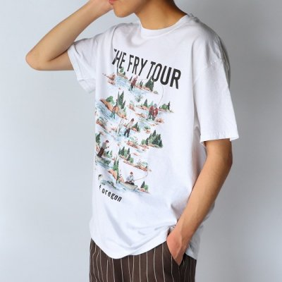 FUNG (ファング) / PRINT Tee (THE FLY TOUR) - WHITE