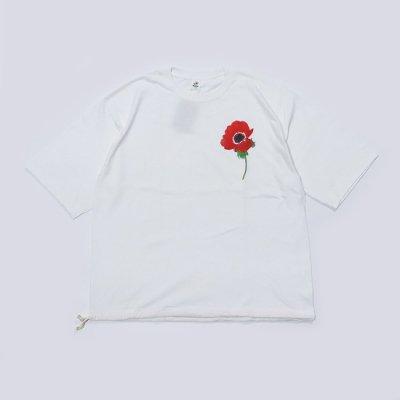 Niche (ニッチ) / STRING T-SHIRTS(RED FLOWER)- WHITE