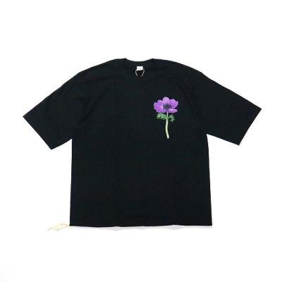 Niche (ニッチ) / STRING T-SHIRTS(PURPLE FLOWER)- BLACK