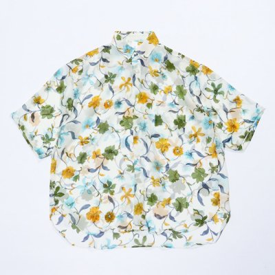 it's inconspicuous presence (Niche. ニッチ) / SILK SS OVER SHIRTS - BLUE