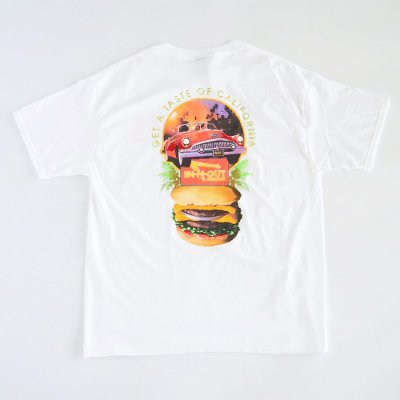 """IN-N-OUT BURGER / """"TASTE OF CALI"""" S/S Tee - WHITE"""