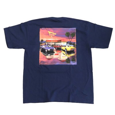 """IN-N-OUT BURGER / """"CLASSIC AND FRESH"""" S/S Tee - NAVY"""