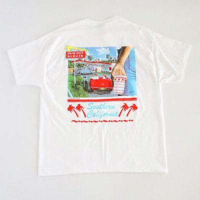 """IN-N-OUT BURGER / """"1990"""" S/S Tee - WHITE"""
