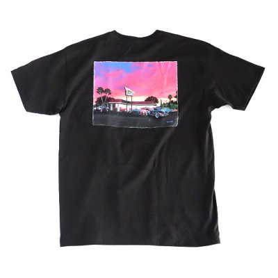 """IN-N-OUT BURGER / """"CAIFORNIA SUNSET"""" S/S Tee - BLACK"""