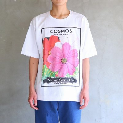 <img class='new_mark_img1' src='https://img.shop-pro.jp/img/new/icons13.gif' style='border:none;display:inline;margin:0px;padding:0px;width:auto;' />Niche(ニッチ) / flower seeds Tee - COSMOS