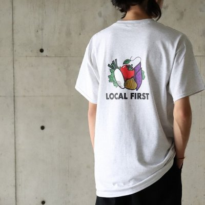 JA伊勢×KNOCKOUT / LOCAL FIRST S/S Tee - ASH GRAY
