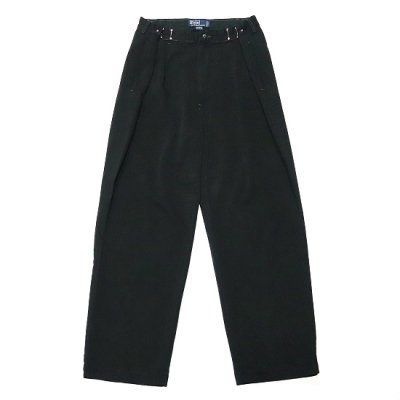 go-getter (ゴーゲッター) / REMAKE R/L HOOK CHINO PANTS (OVER DYE) 2 - BLACK