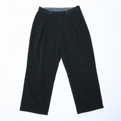 go-getter (ゴーゲッター) / REMAKE R/L HOOK CHINO PANTS (OVER DYE) 3 - BLACK