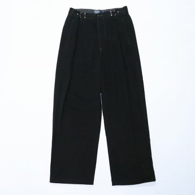 go-getter (ゴーゲッター) / REMAKE R/L HOOK CHINO PANTS (OVER DYE) 4 - BLACK