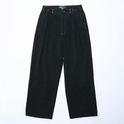 go-getter (ゴーゲッター) / REMAKE R/L HOOK CHINO PANTS (OVER DYE) 5 - BLACK