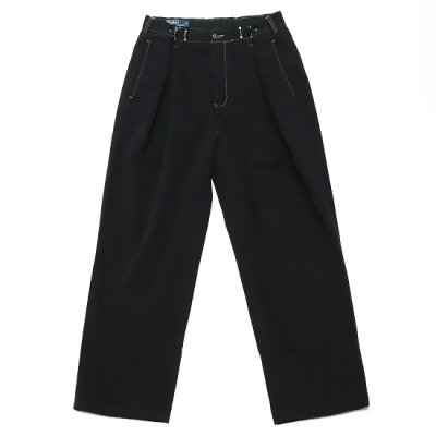 go-getter (ゴーゲッター) / REMAKE R/L HOOK CHINO PANTS (OVER DYE) 6 - BLACK