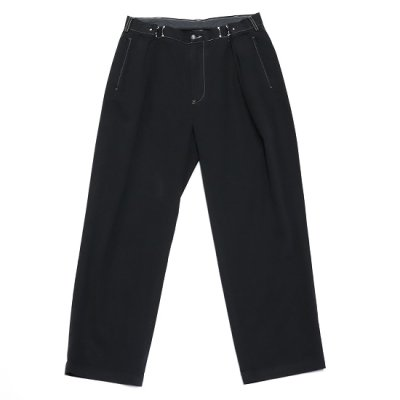 go-getter (ゴーゲッター) / REMAKE R/L HOOK CHINO PANTS (OVER DYE) 9 - BLACK