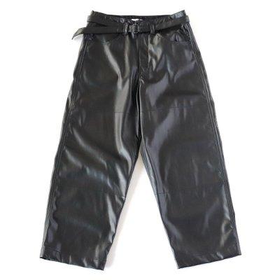 saby (サバイ)/ SUPER BIG PANTS (Washable LAMB TOUCH SKIN) - BLACK