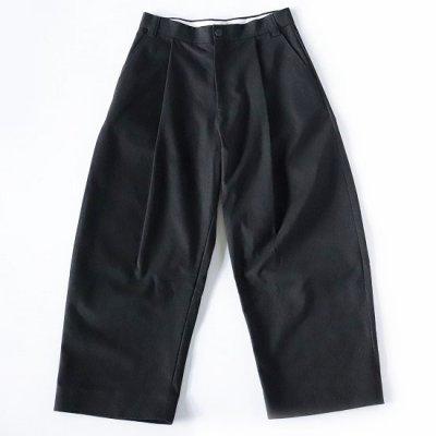 STUDIO NICHOLSON (スタジオニコルソン) / SORTE SNM Peached Cotton Twill Volume Pleat Pant - BLACK