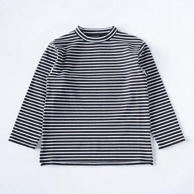 A Vontade (ア ボンタージ) / MOCK NECK BORDER L/S - BLACK×WHITE