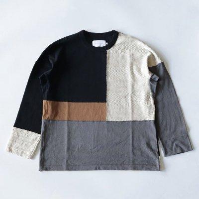 CURLY (カーリー) / ADDINGTON LS CN TEE - ECRU/BLACK