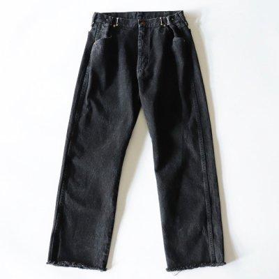 go-getter (ゴーゲッター) / REMAKE HOOK DENIM PANTS #4 - BLACK