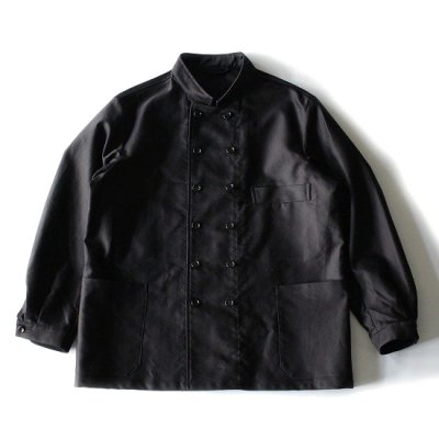 A VONTADE (アボンタージ) / MOLESKIN DOUBLE BREASTED WORK JACKET - BLACK