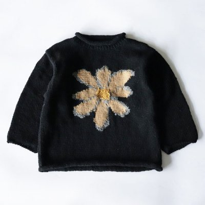 mcmahon knitting mills×it's inconspicuous presence (Niche. ニッチ) / ALL ROLL KNIT (BLACK BODY) - BEIGE