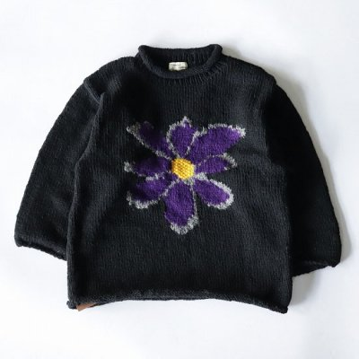 mcmahon knitting mills×it's inconspicuous presence (Niche. ニッチ) / ALL ROLL KNIT (BLACK BODY) - PPL