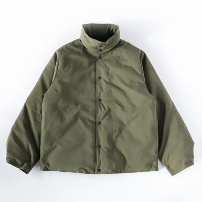 South2West8 (サウスツーウエストエイト) / BANDED COLLAR DOWN JACKET (POLY RIPSTOP) - OLIVE