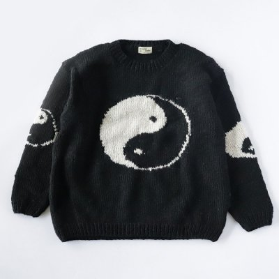 mcmahon knitting mills×it's inconspicuous presence (Niche. ニッチ) / BIG YIN YAN CREW KNIT - BLACK