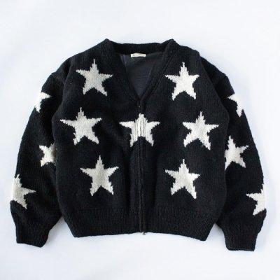 mcmahon knitting mills×it's inconspicuous presence (Niche. ニッチ) / KNIT BLOUSON STARS - BLACK