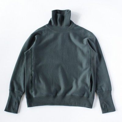 A Vontade (ア ボンタージ) / Turtle Neck Sweat L/S - DEEP FOREST