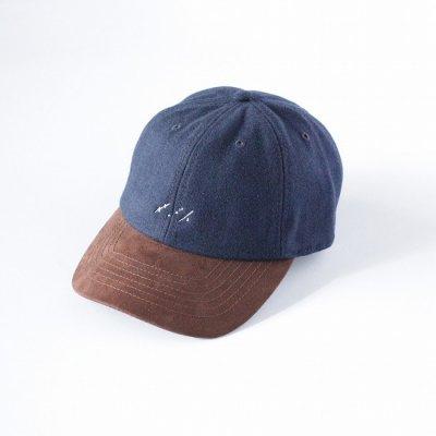 saby (サバイ) / WOOL CAP (2TONE) - NAVY×WHITE LOGO