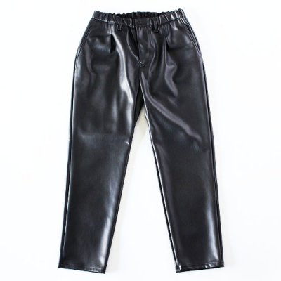 CURLY (カーリー) / REGENCY EZ TROUSERS (Synthetic leather) - BLACK