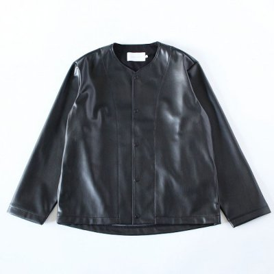 CURLY (カーリー) / REGENCY NC JACKET (Synthetic leather) - BLACK
