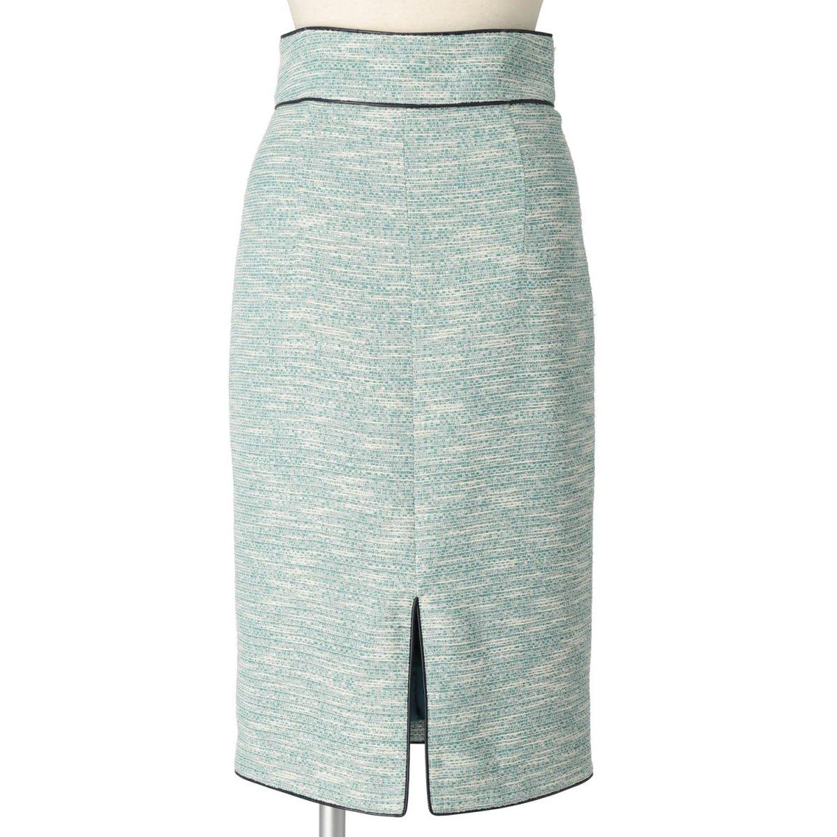 フロントスリットツイードスカート