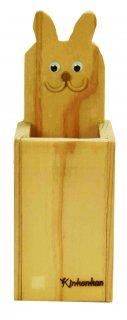 ウサギペン立て木工キット-おおさか河内材-