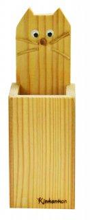 ネコペン立て木工キット-おおさか河内材-