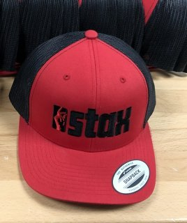 Stax Snapping Fingers e-Concious Recycled Trucker Hat (RED)