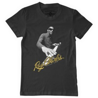 Ray Charles Piano T-Shirt / Classic Heavy Cotton