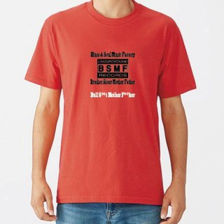 BSMF RECORDS Small Logo T Shirts / Red