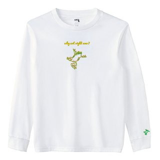 Frog Logo 'why not right now?' Long  T Shirts / White