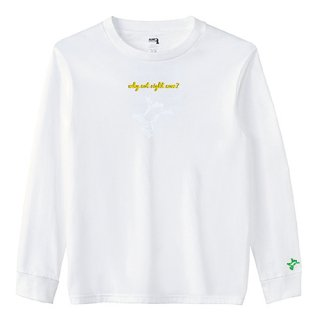 Frog Logo White 'why not right now?' Long  T Shirts / White