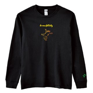 Frog Logo 'do ones full duty' Long T Shirts / Black
