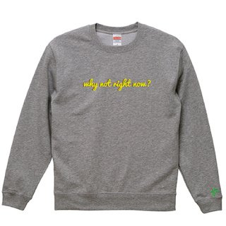 'why not right now?' Sweat / Graphite Heather