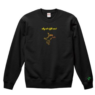 Frog Logo 'why not right now?' Sweat / Black