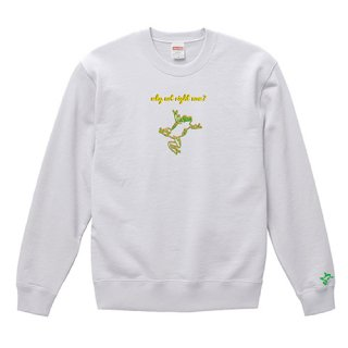Frog Logo 'why not right now?' Sweat / White