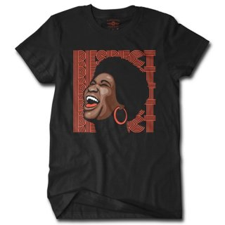 Aretha Respect Hoops T-Shirt / Classic Heavy Cotton
