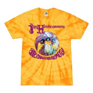 Small Batch Jimi Hendrix Are You Experienced Tie-Dye T-Shirt / Foxey Yellow<img class='new_mark_img2' src='https://img.shop-pro.jp/img/new/icons8.gif' style='border:none;display:inline;margin:0px;padding:0px;width:auto;' />